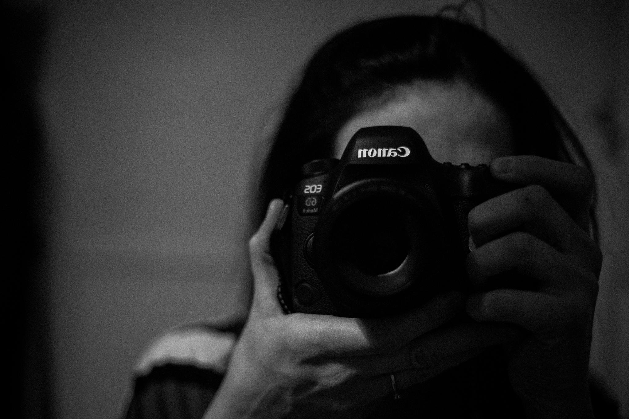 Holding camera