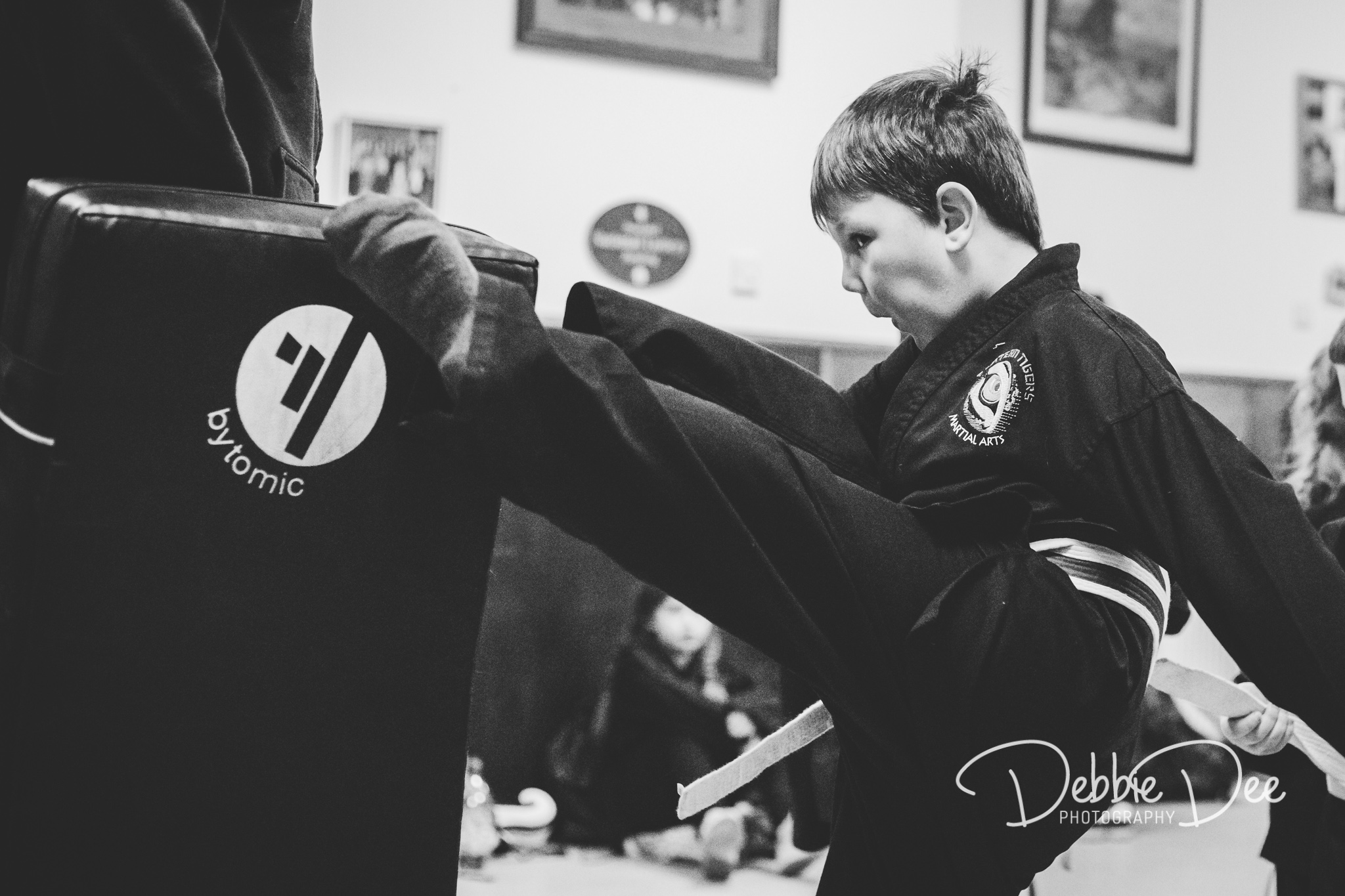 Eastern tigers martial arts boy kicking