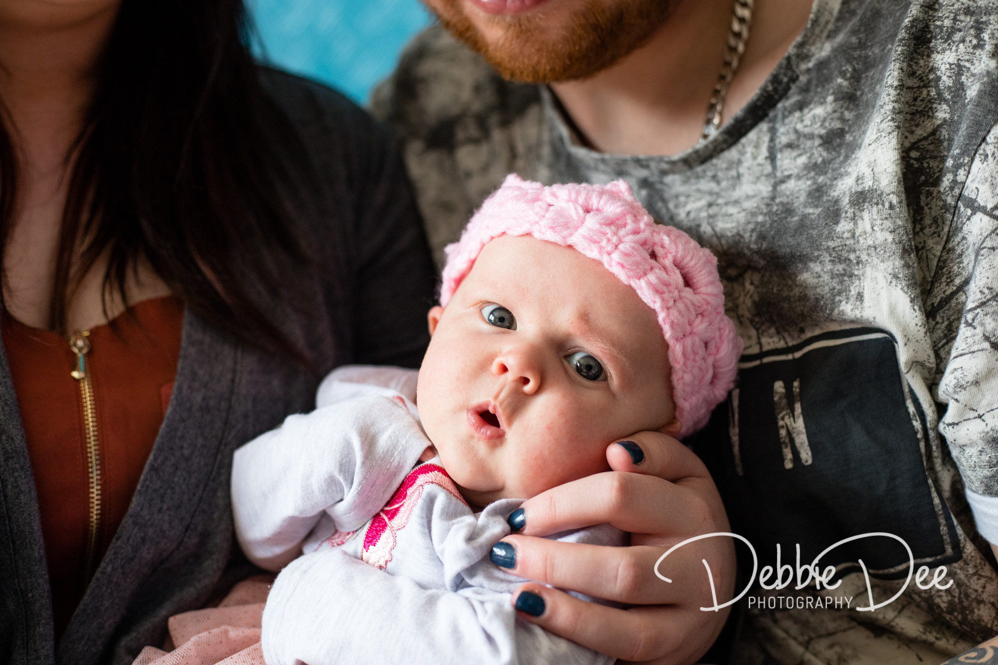 Family photography in-home lifestyle session aberdeenshire Debbie Dee Photography cute baby face