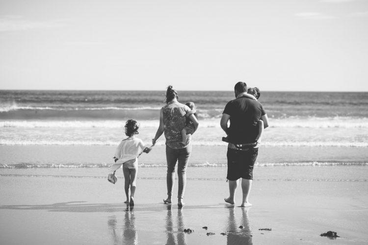 Family Photographer Aberdeenshire - Family photography aberdeenshire - Debbie Dee Photography - Lifestyle Family - family walking towards sea