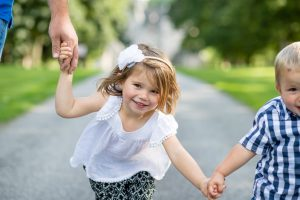 Family Photographer Aberdeenshire - Family photography aberdeenshire - Debbie Dee Photography - Lifestyle Family - smiling girl holding hands