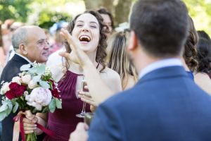 Wedding guests laughing - Wedding photographer aberdeenshire, aberdeen, huntly, scotland - Debbie Dee Photography