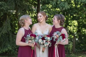 Bride and bridesmaids laughing - Wedding photographer aberdeenshire, aberdeen, huntly, scotland - Debbie Dee Photography