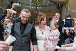 Confetti photo - aberdeen wedding photographer - debbie dee photography