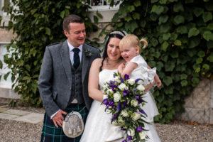 Wedding couple - aberdeen wedding photographer - debbie dee photography