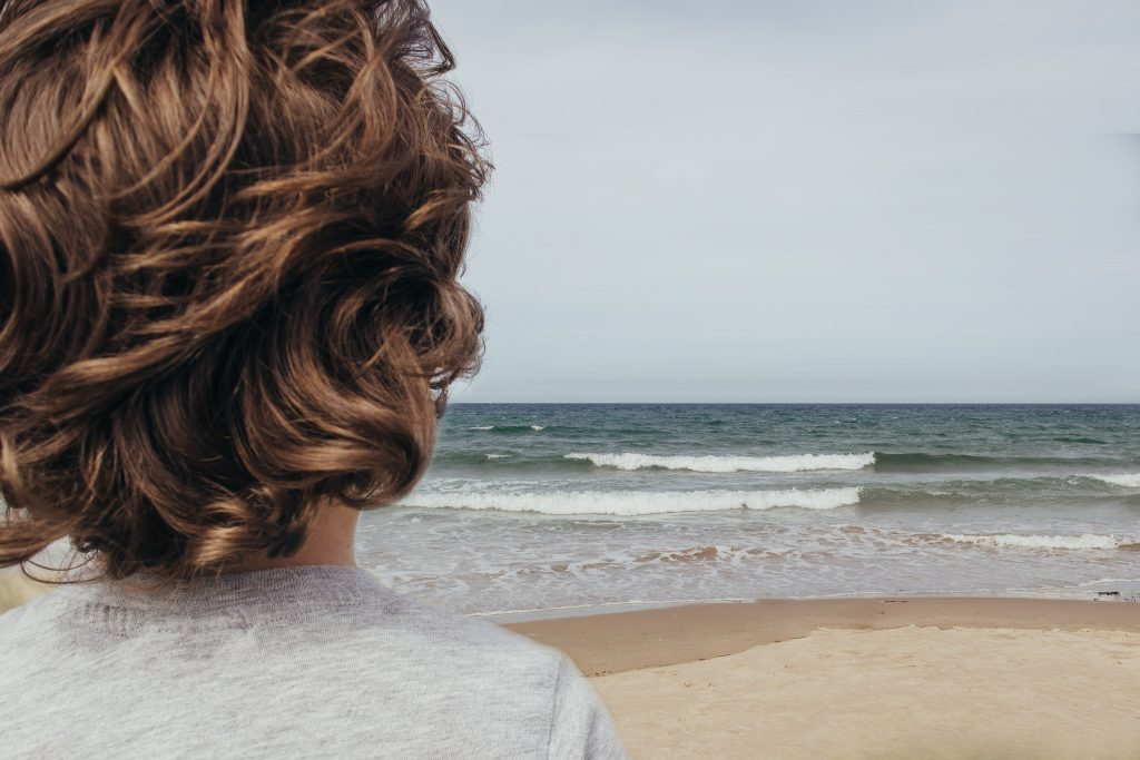 Looking out to sea at Sandend Beach Aberdeenshire - Debbie Dee Photography - Aberdeenshire family photography